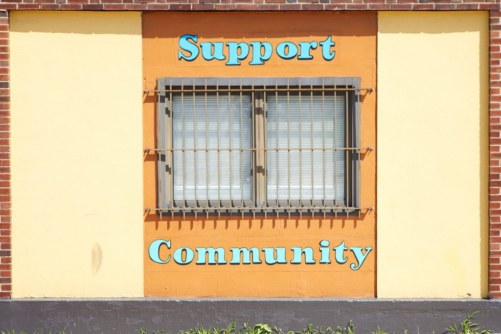 support community sign